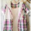 Megu เสื้อผ้าฝ้ายลายสก้อต มี hood สีหวาน
