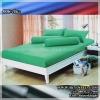 ผ้าปูที่นอนสีพื้น (สีเขียว)(พื้นเรียบ) ขนาด 6 ฟุต 5 ชิ้น