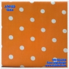 ผ้าปูที่นอนลายจุด เกรด A สีส้มสด ขนาด 6 ฟุต 5 ชิ้น
