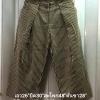 กางเกงทรงลำลอง ญี่ปุ่น ขา 5 ส่วน ผ้าคอตตอนลายทางลง