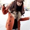 CW809003 เสื้อโค้ทเกาหลี กันหนาว ผ้าขนสัตว์ ปกเชิ้ตตัวยาว (พรีออเดอร์) รอ 3 อาทิตย์หลังโอนเงิน