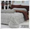 ผ้าปูที่นอนสีพื้น ทูโทน เกรด A (สีน้ำตาลเข้ม-เทา) ขนาด 6 ฟุต(5 ชิ้น)