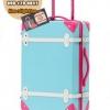 กระเป๋าเดินทางวินเทจ รุ่น colorful ฟ้าคาดชมพู ขนาด 22 นิ้ว