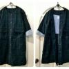 เสื้อโค้ทสไตล์ญี่ปุ่น ผ้าลายสก้อตสีเขียวเข้มคลาสสิค
