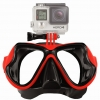FMASK-RD Freewell Diving Mask สำหรับ GoPro สีแดง
