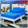 ผ้าปูที่นอนสีพื้น (สีฟ้าเข้ม)(พื้นเรียบ) ขนาด 3.5 ฟุต 3 ชิ้น