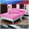ผ้าปูที่นอนสีพื้น (สีชมพู)(พื้นเรียบ) ขนาด 5 ฟุต 5 ชิ้น