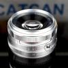 Kaxinda 35mm f1.7 สี Silver เลนส์มือหมุนคุณภาพดี สำหรับกล้อง FUJI X