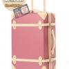 กระเป๋าเดินทางวินเทจ รุ่น colorful ชมพูกระปิคาดชมพูอ่อน ขนาด 22 นิ้ว