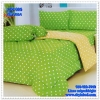 ผ้าปูที่นอนลายจุด เกรด A สีเขียวตอง ขนาด 5 ฟุต 5 ชิ้น