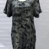 Short Sleeve Dresses sew tucks tie dye
