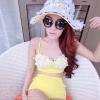 [Size S,M] Daisy set (สีเหลือง) ชุดว่ายน้ำ ทูพีทแนววินเทจ