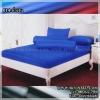 ผ้าปูที่นอนสีพื้น (สีน้ำเงิน)(พื้นเรียบ) ขนาด 3.5 ฟุต 3 ชิ้น