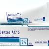 Benzac AC Gel 5% ( 60Gm ) ประกอบด้วย Benzyl peroxide 5% ใช้ทาเพื่อรักษาสิว ฆ่าเชื้อแบคทีเรียอันเป็นสาเหตุของสิว ทำให้หัวสิวหลุดออกจากตุ่มสิว