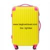 กระเป๋าเดินทางล้อลากไฟเบอร์ รุ่น colorful เหลืองขอบชมพู ขนาด 20/24/28 นิ้ว