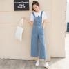 OW6005003 เอี้ยมกางเกงยีนส์ขากว้างสาวเกาหลี สีฟ้าอ่อน (พรีออเดอร์) รอสินค้า 3 อาทิตย์หลังโอนเงิน