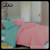 ผ้าปูที่นอนสีพื้น เกรด A สีโอรส ขนาด 3.5 ฟุต 3 ชิ้น
