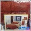ชุดผ้าปูที่นอนสีพื้น พร้อมผ้านวมหนา ทูโทน เกรด A (ุสีครีม+ส้มอิฐ) 6 ฟุต 6 ชิ้น