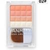 Canmake Cheek Gradation # 02 Orange Stripe บรัชออน 4 สี เนื้อเนียนละเอียด ไล่เฉดจากสีเข้มไปหาสีอ่อน เพิ่มความสว่างให้ใบหน้า