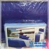 ชุดผ้าปูที่นอนสีพื้น พร้อมผ้านวมหนา ทูโทน เกรด A (ุสีฟ้าอ่อน+น้ำเงิน) 6 ฟุต 6 ชิ้น