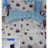 ผ้าปูที่นอนเกรด A ขนาด 5 ฟุต(5ชิ้น)[AS-215]