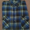 ้เสื้อเชิ๊ตลายสก๊อตสีฟ้า - น้ำตาล ราคา 150 บาท