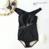 (Size S) ชุดว่ายน้ำ วันพีช ปาดไหล่สีดำ