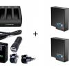 Smatee Charger 3 Channal สามารถชาร์จได้ 3 ช่อง + Adapter Wall Cahrge Plug + แบตเตอรี่ GoPro Hero5 แท้ 2 ก้อน Full Set