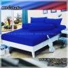 ผ้าปูที่นอนสีพื้น (สีน้ำเงินเข้ม)(พื้นเรียบ) ขนาด 6 ฟุต 5 ชิ้น