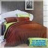 ชุดผ้าปูที่นอนสีพื้น พร้อมผ้านวมหนา ทูโทน เกรด A (ุสีน้ำตาล+เขียวตอง) 6 ฟุต 6 ชิ้น