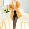 CW5909015 เสื้อโค้ทผู้หญิงหวานเกาหลีตัวยาวมีปกบุขนสัตว์(พรีออเดอร์) รอ 3 อาทิตย์หลังโอนเงิน