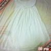 Dress สั้นสไตส์วินเทจ สีขาวฟรุ๊งฟริ๊งแนวน่ารัก ราคา 80 บาท