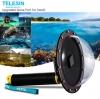 "Telesin Dome Port 6"" สำหรับกล้อง Hero5 Black เหมาะสำหรับถ่ายครึ่งบกครึ่งน้ำ"