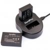 แท่นชาร์จแบตเตอรี่ USB แบบคู่ Durapro สำหรับ CANON LP-E17