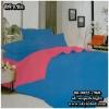 ผ้าปูที่นอนสีพื้น เกรด A สีฟ้าเข้ม ขนาด 6 ฟุต 5 ชิ้น
