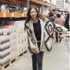 QW5710006 เสื้อคลุมกันหนาวเกาหลี ไหมถัก วินเทจ ตัวยาว (พรีออเดอร์) รอ 3 อาทิตย์หลังโอนเงิน