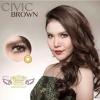 Civic Brown Dreamcolor1 คอนแทคเลนส์ ขายส่งคอนแทคเลนส์ Bigeyeเกาหลี ขายส่งตลับคอนแทคเลนส์