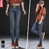 LW5710005 กางเกงยีนส์สาวเกาหลี big size เอวยางยืดผูกโบว์หน้า (พรีออเดอร์)รอ 3 อาทิตย์หลังชำระเงิน