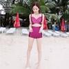 [Size S,M] Over Cross (สีม่วง) ชุดว่ายน้ำ ทูพีทแนววินเทจ บราไขว้หน้า กางเกงเอวสูง