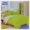 ผ้าปูที่นอนลายจุด เกรด A สีเขียวมะนาว ขนาด 3.5 ฟุต 3 ชิ้น