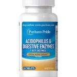 Puritan's Pride Acidophilus & Digestive Enzymes 2 billion / 60 Tablets