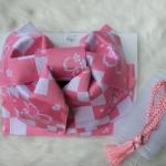 Pink Obi โอบิสำเร็จรูป ซากูระสีชมพู น่ารักคาวาอิ