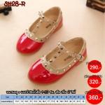 SH28-R รองเท้าคัชชูเด็กสไตล์วาเลนติโน่ สีแดง (ไซส์21-36)