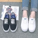 พร้อมส่ง รองเท้าผ้าใบ (สีดำ,ขาว) ไซส์ 35,36,37,39,40