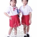 กางเกงนักเรียนอนุบาลสีแดง