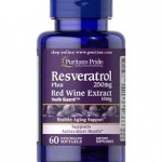 Puritan's Pride Resveratrol 250 mg Plus Red wine Extract 10mg/ 60 Softgels
