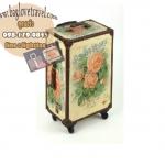 กระเป๋าเดินทางวินเทจ รุ่น vintage classic ลายดอกกุหลาบ ขนาด 24 นิ้ว