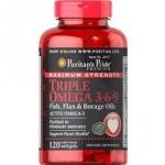 Puritan's Pride Maximum Strength Triple Omega 3-6-9 Fish, Flax & Borage Oils / 120 Softgels
