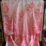 Furisode Kimono sweet pink#Yazawa กิโมโนฟูริโซเดะสีชมพู รุ่น Yazawa