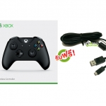 จอย Xbox One S Gen3 Black Controller (Wireless & Bluetooth) (สาย Micro USB) [XBOXONE/PC]